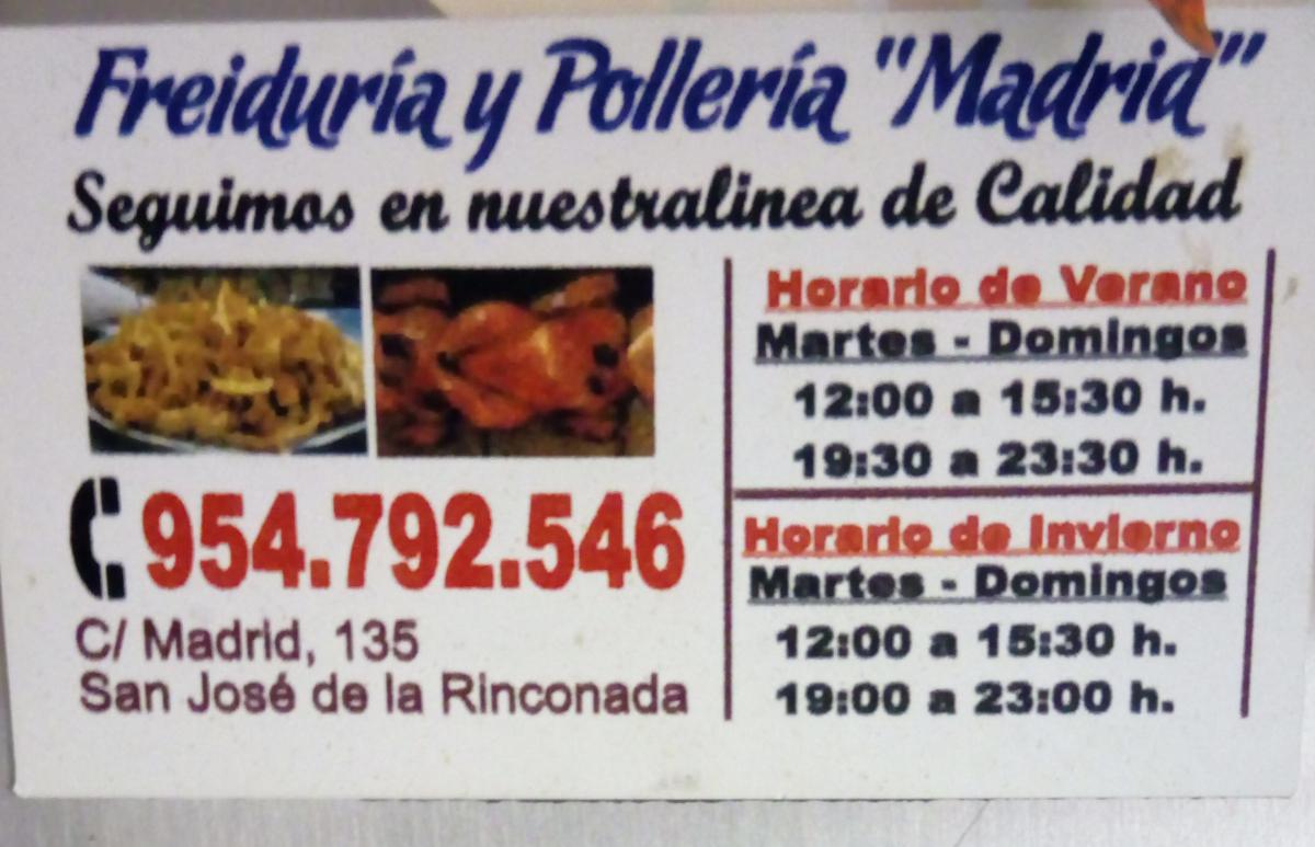 Tenemos pollos asados y pescaíto frito de calidad.