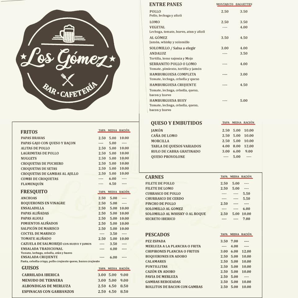 Bar-Cafeteria en la que disponemos de todo tipo de variedades a buen precio. ¡Importante no irse sin probar nuestro