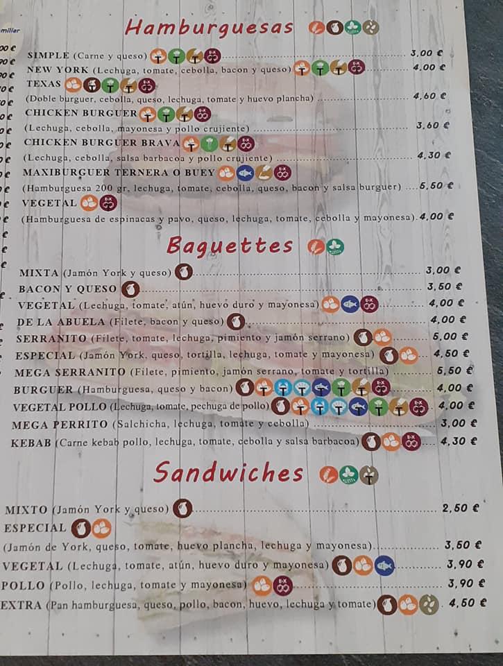 Pizzas, baguettes, hamburguesas, sandwiches, kebabs, picoteo... Zonas de reparto: San José, La Rinconada, Alcalá del Río y La Jarilla