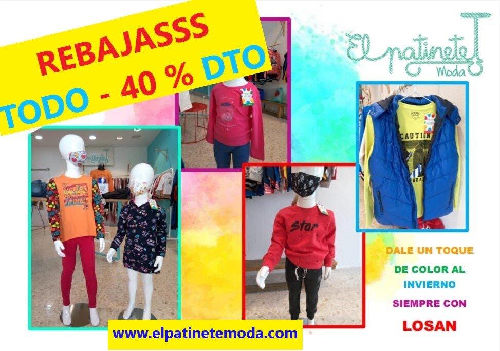 Moda infantil y juvenil de 2 a 16 años. Tenemos las mejores marcas: LOSAN, NEWNESS y mucho más...
